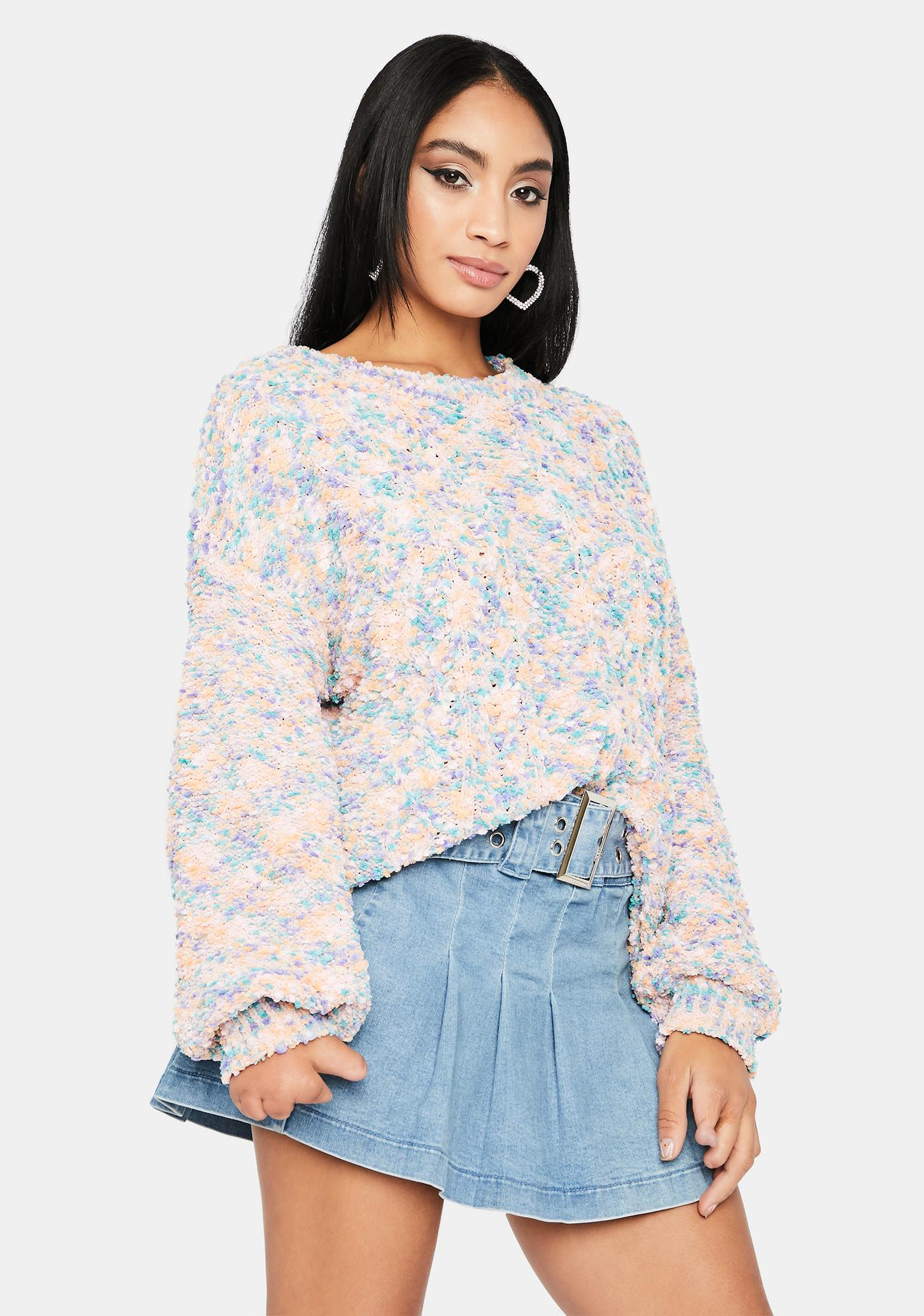 Licensed Fabulous Cable Knit Sweater