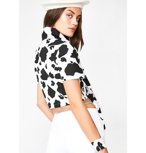 CheekLDN Holy Cow! Bow Shirt