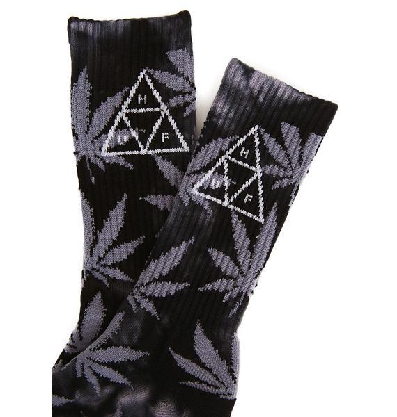 HUF Onyx Smoke 420 Triple Triangle Socks