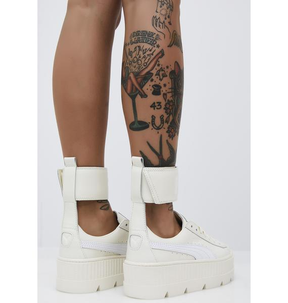 the latest c8361 10403 Vanilla FENTY PUMA by Rihanna Ankle Strap Sneaker