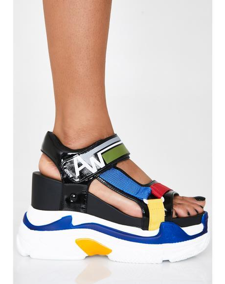 Pop Life Platform Sandals