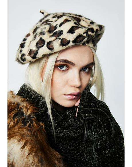 Here N' Meow Fuzzy Beret