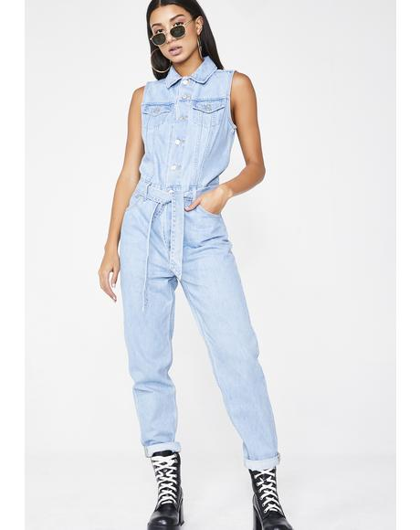 In A Snap Tapered Jumpsuit
