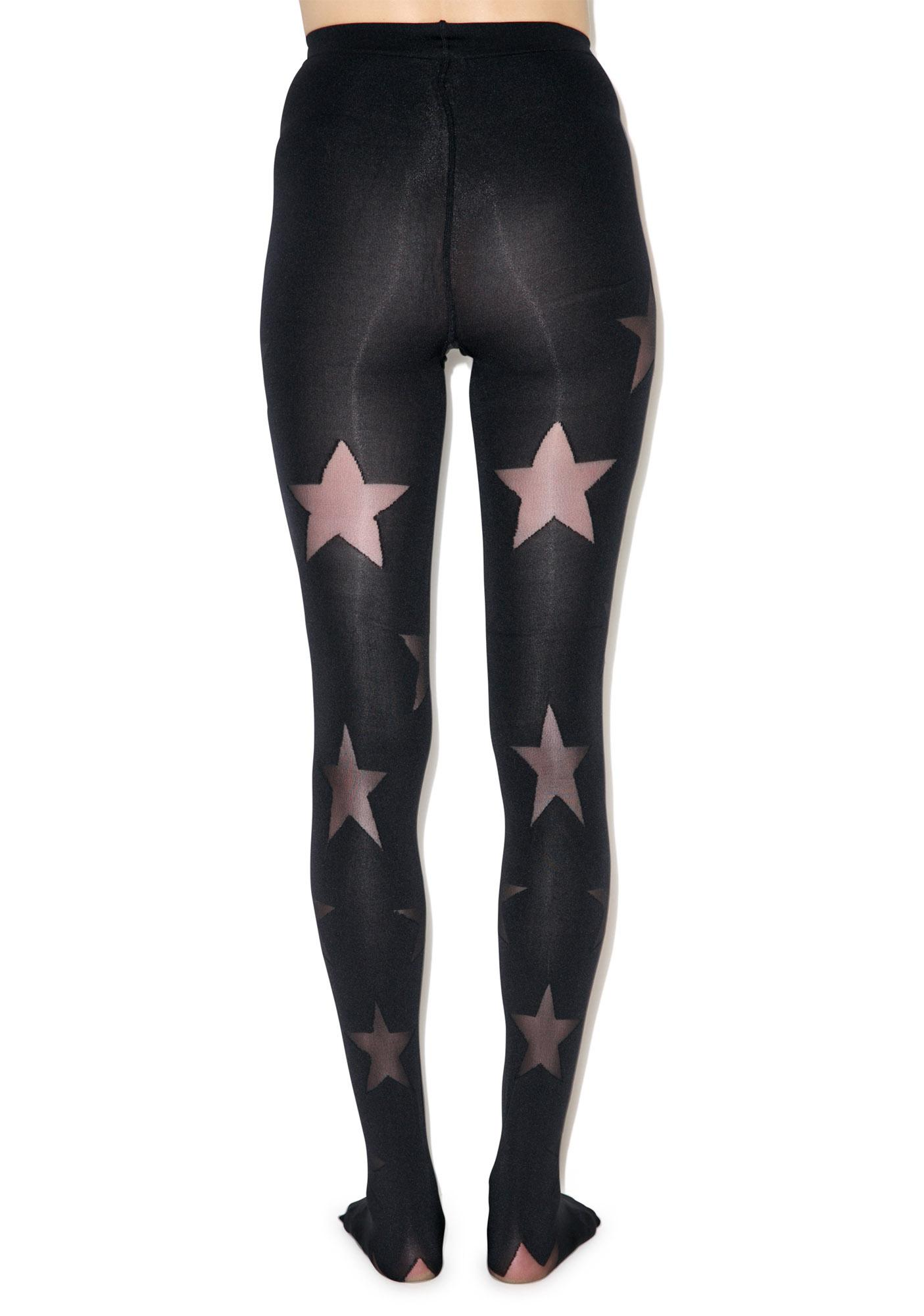 House of Holland x Pretty Polly Reverse Stars Tights