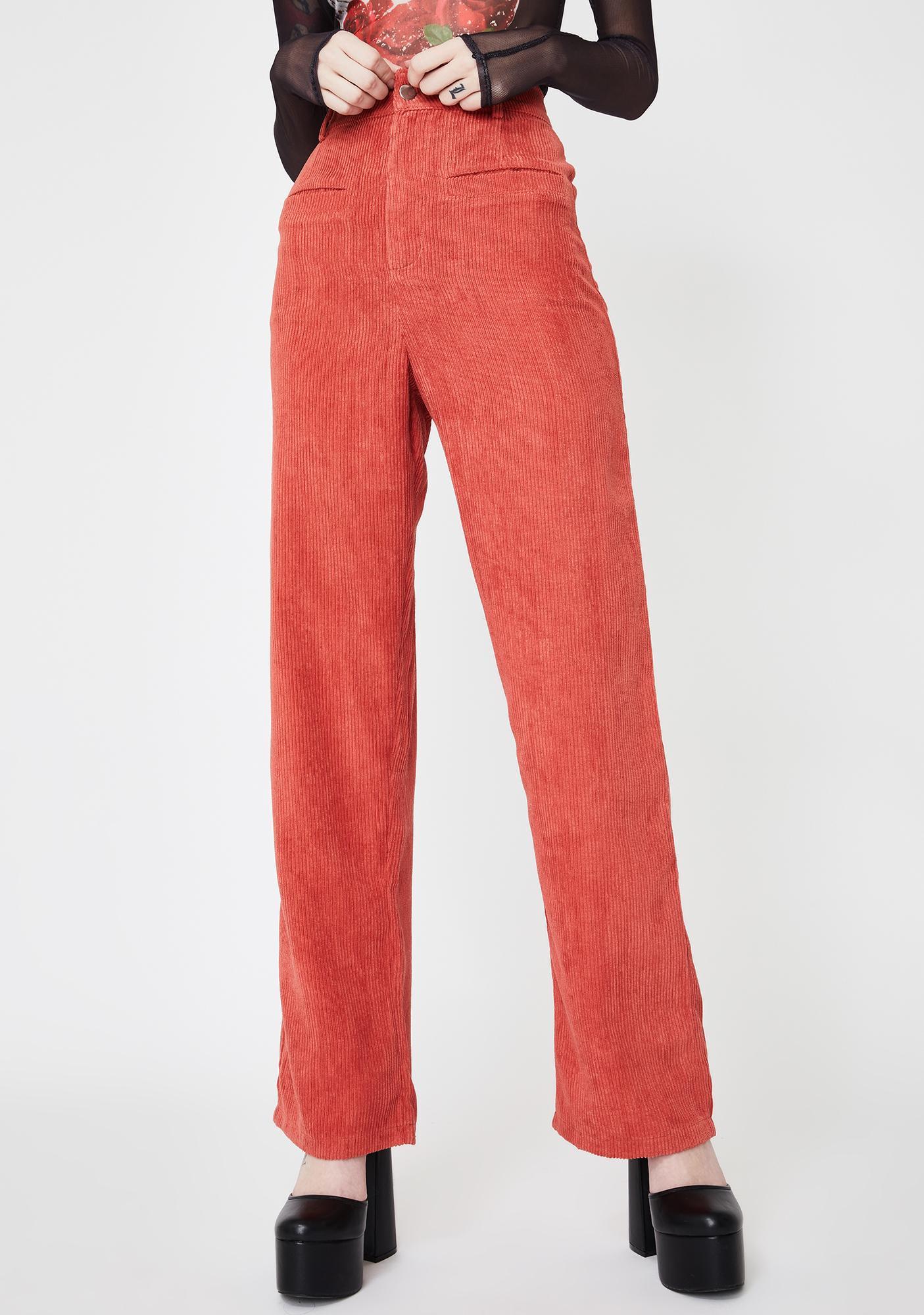 Daisy Street Corduroy Straight Leg Trousers