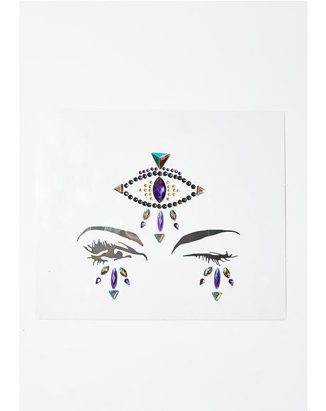 Fortune Teller Eye Face Gems