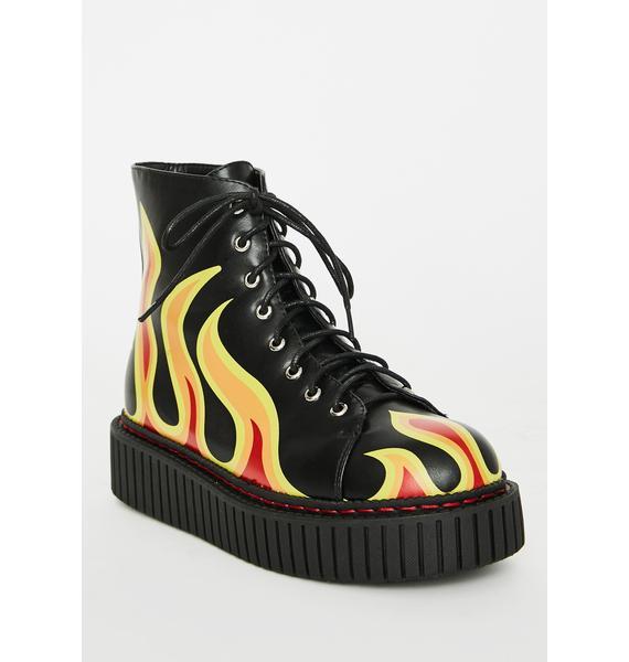 Lamoda Glowin' Creeper Boots