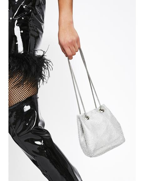 Rhinestone Royalty Bucket Bag