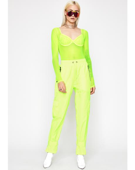 Radioactive People Pleaser Sheer Bodysuit