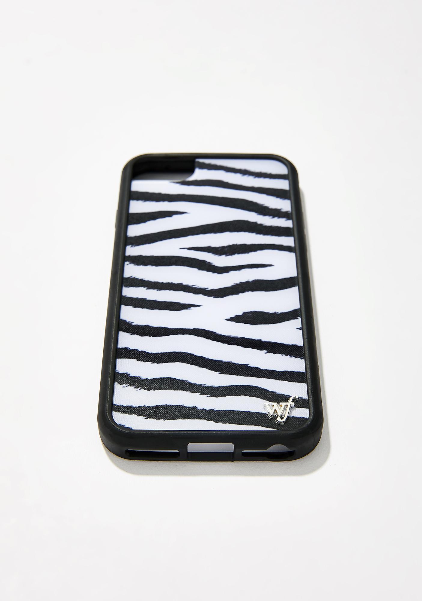 Wildflower Zebra iPhone Case