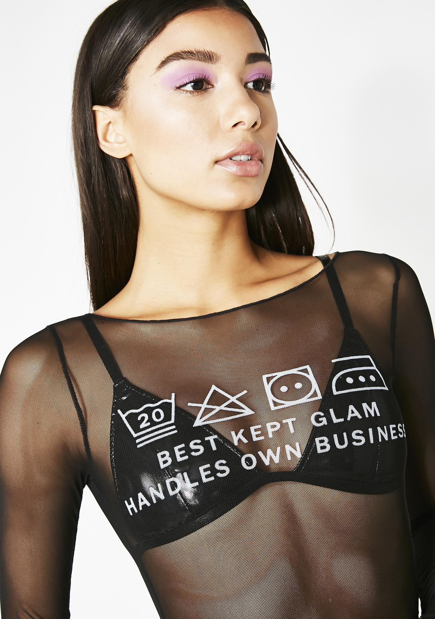 Wicked Babe In Charge Mesh Top