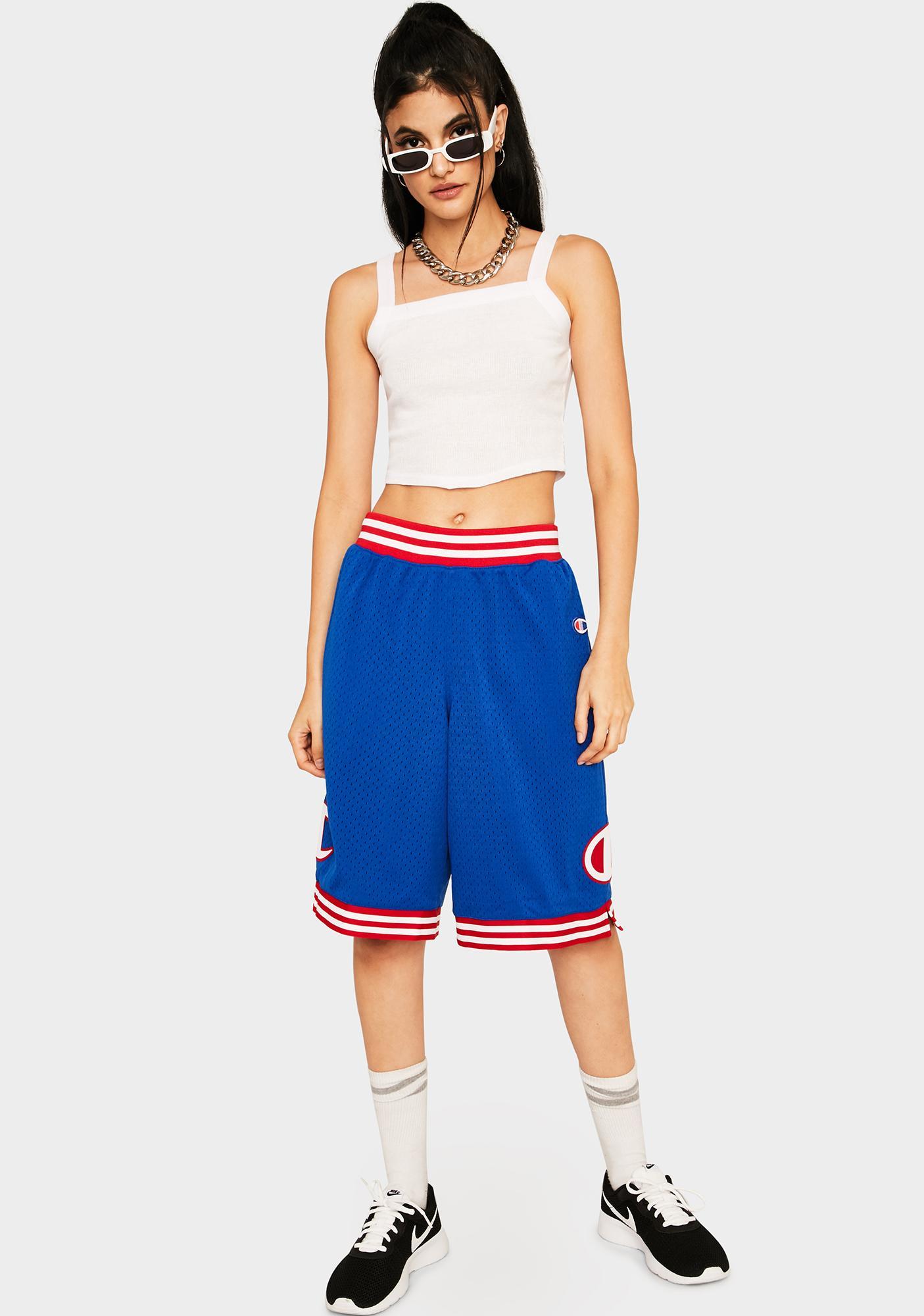 Champion Blue Rec Mesh Shorts