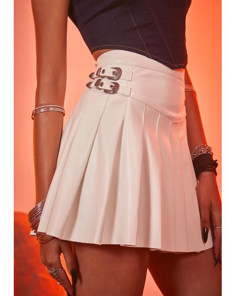 Icy Trailblazer Pleated Mini Skirt