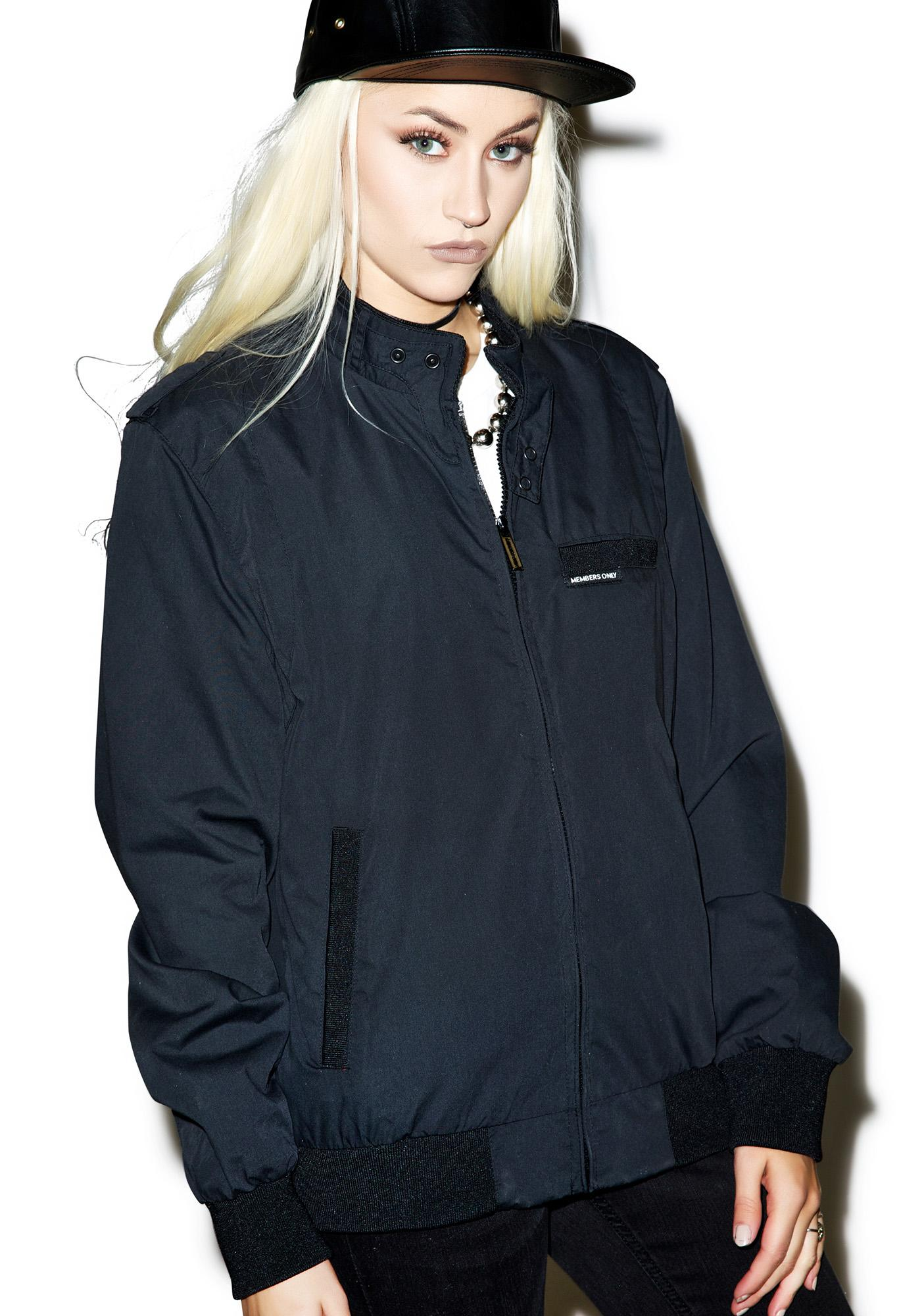 Members Only The Onyx Classic Iconic Racer Jacket
