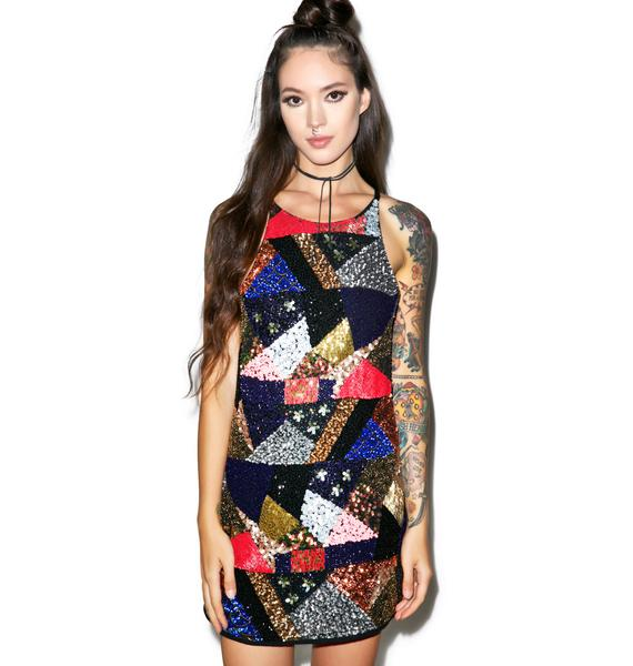 Glamorous It's A Party Sequin Dress