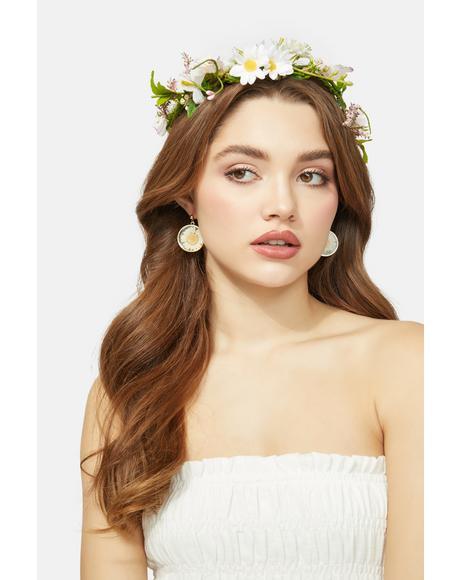 Wildflower Goddess Pressed Flower Earrings
