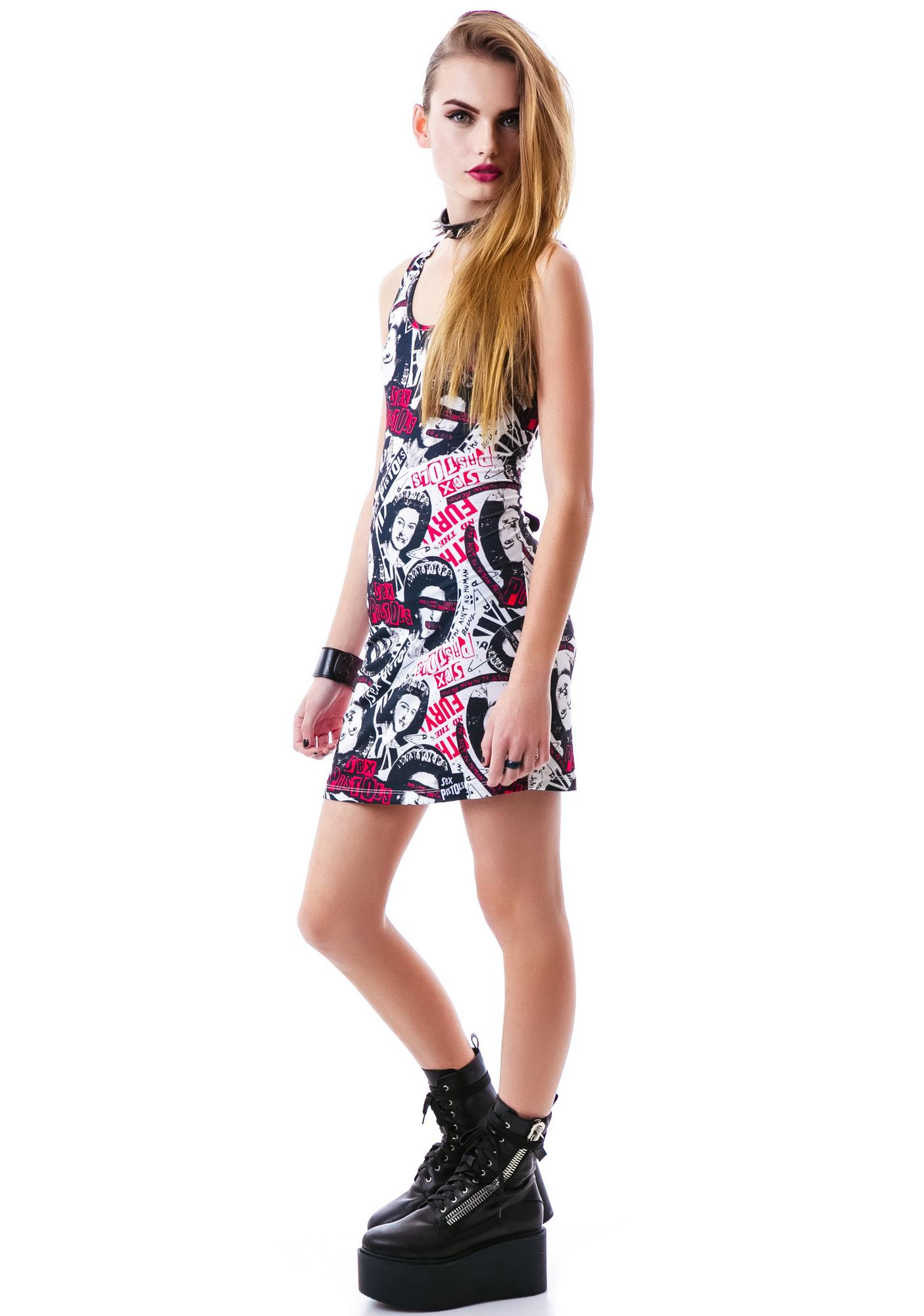 Sourpuss Clothing Sex Pistols No Fun Dress