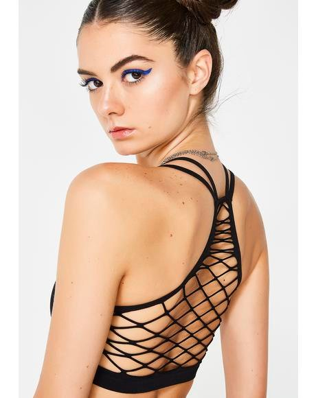 Holy Roller Fishnet Bra Top