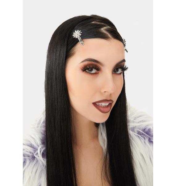 Old Hollywood Flower Hair Clip Set