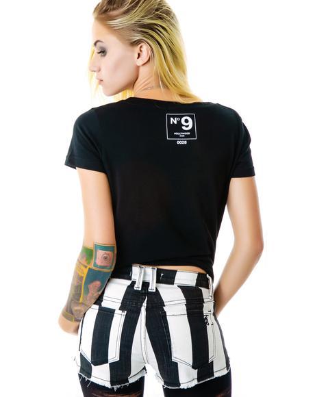 Black and White Starlight Shorts