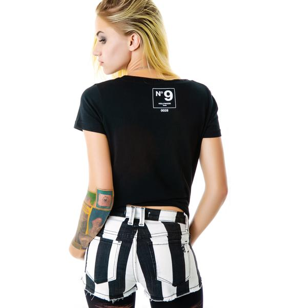 Frankie B Black and White Starlight Shorts