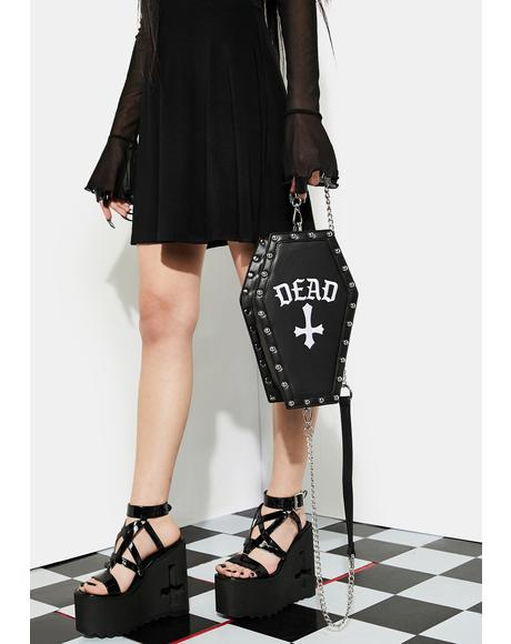 Pull Me Under Coffin Crossbody Bag