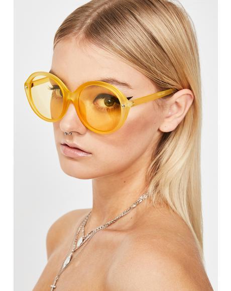 Bodak Mz. Magoo Circle Sunglasses