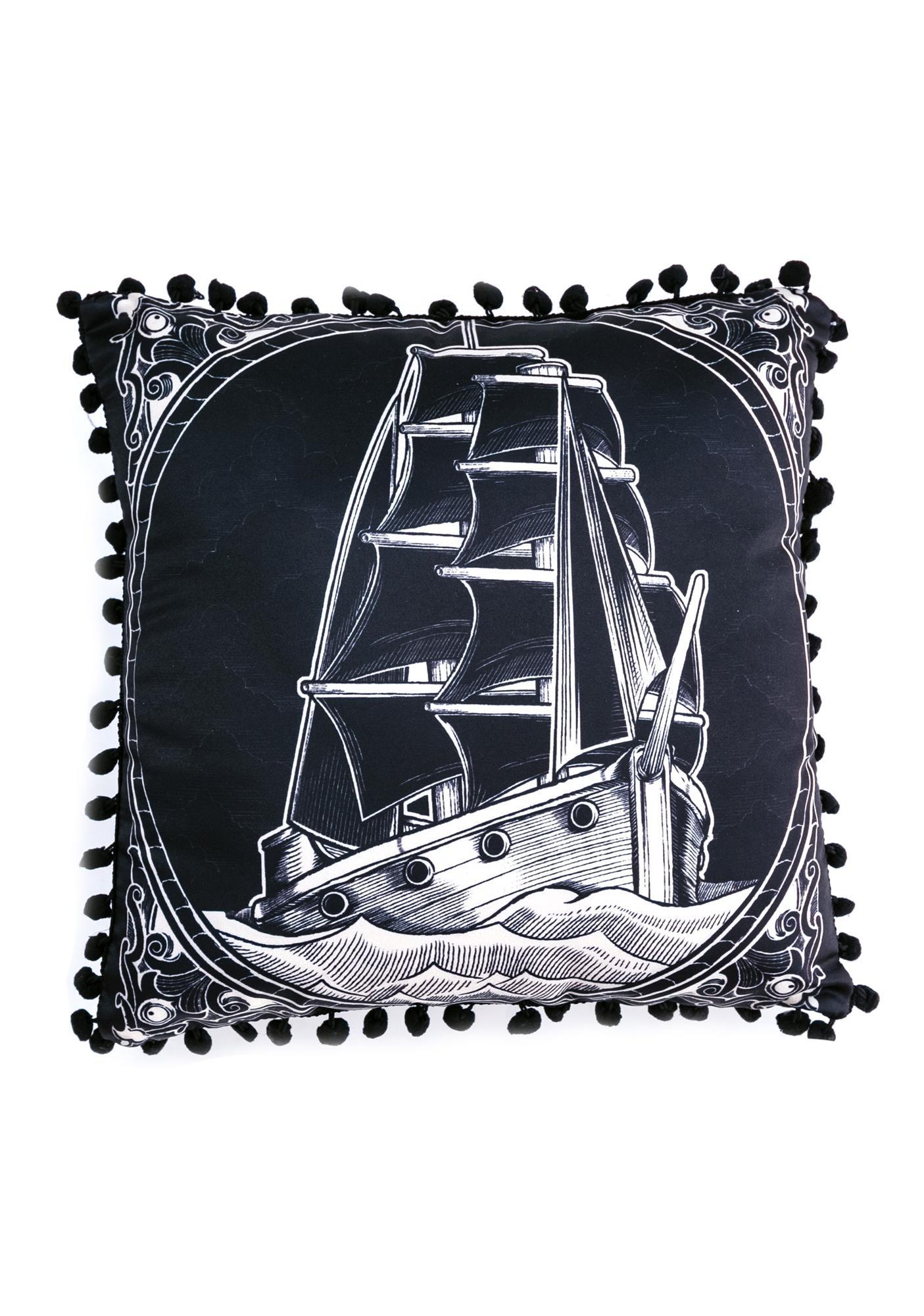 Sourpuss Clothing Clipper Ship Pillow