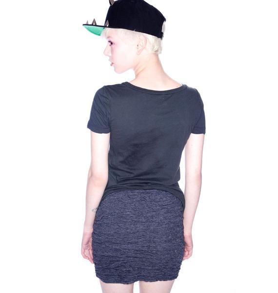 Chaser Crinkle Fitted Mini Skirt