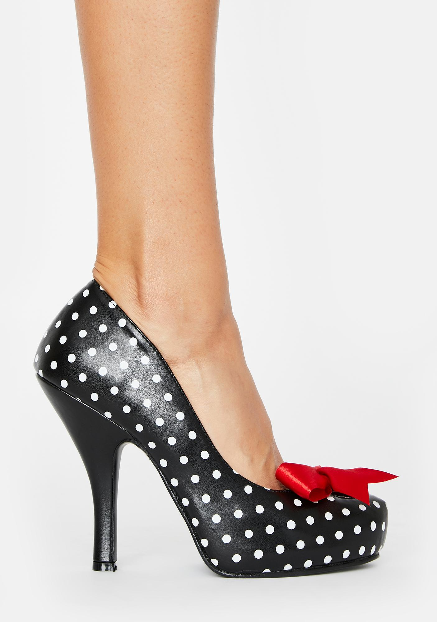 Pin Up Couture Polka Dot Cutie Heels