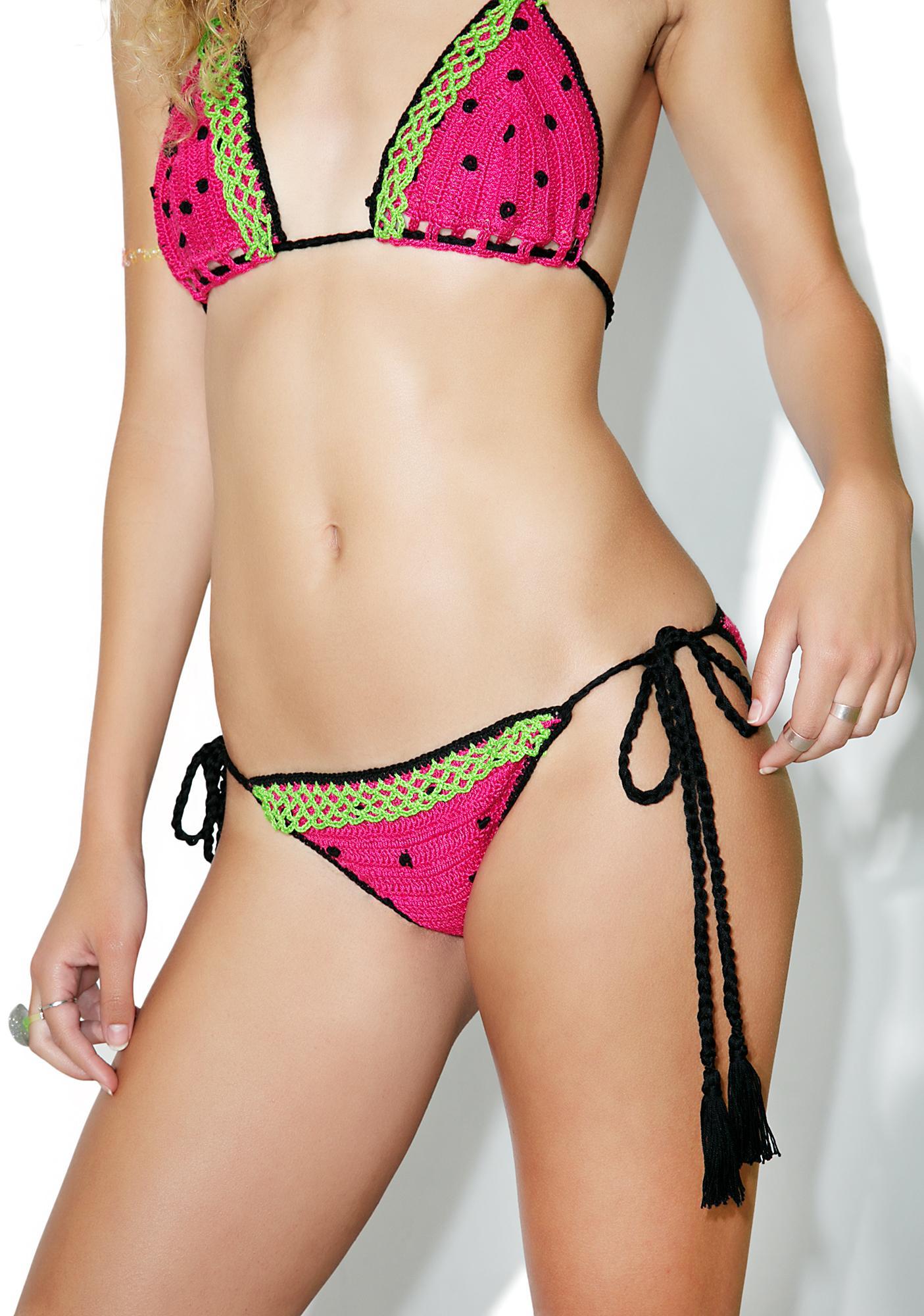 Anna Kosturova Watermelon Bikini Bottoms