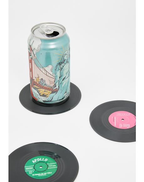 Put Some Records On Coaster Set