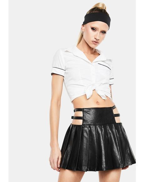 Night Craze Pleated Mini Skirt