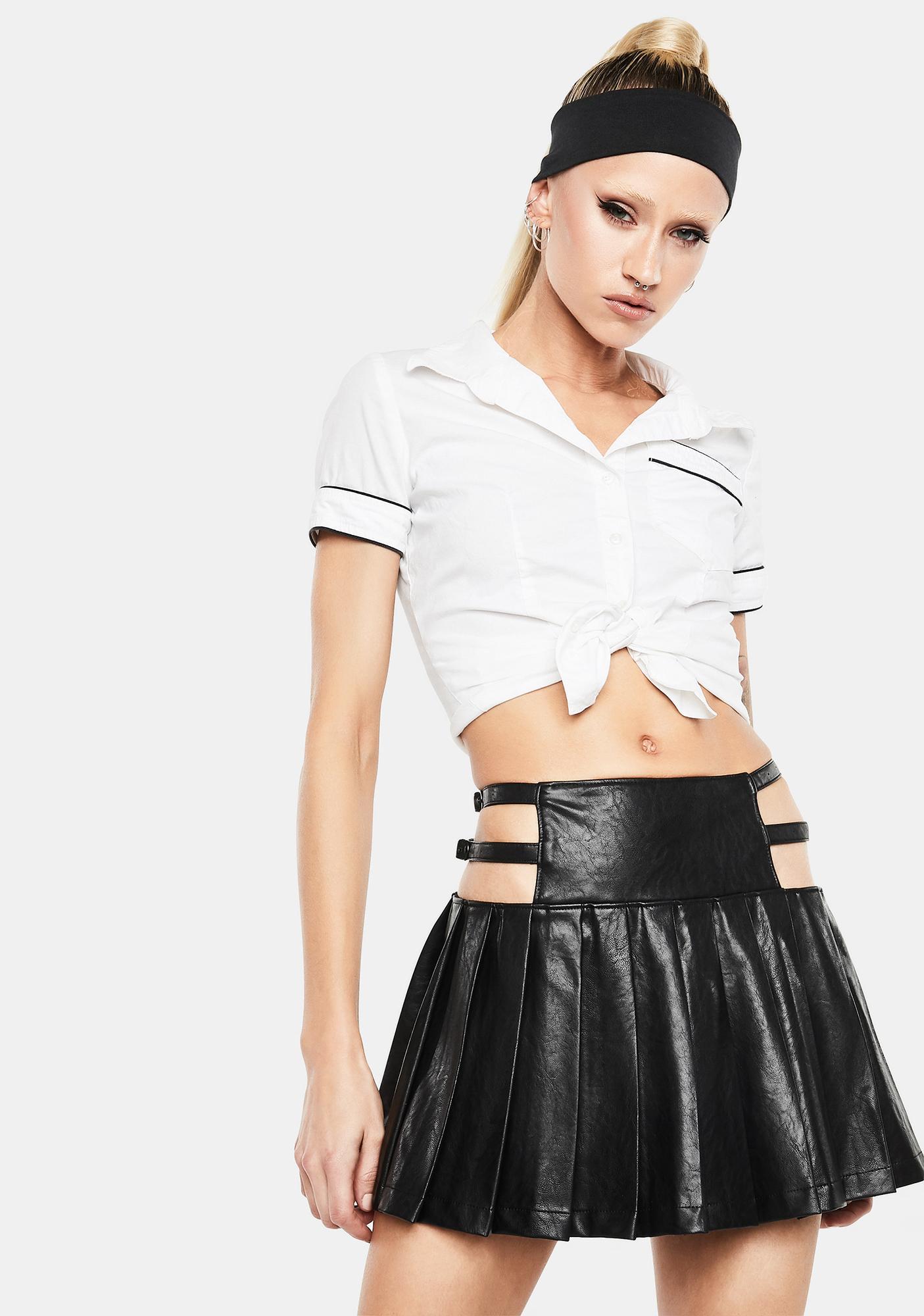 Club Exx Night Craze Pleated Mini Skirt