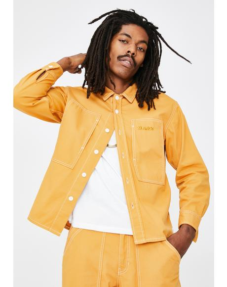 Yellow Stitch Work Shirt