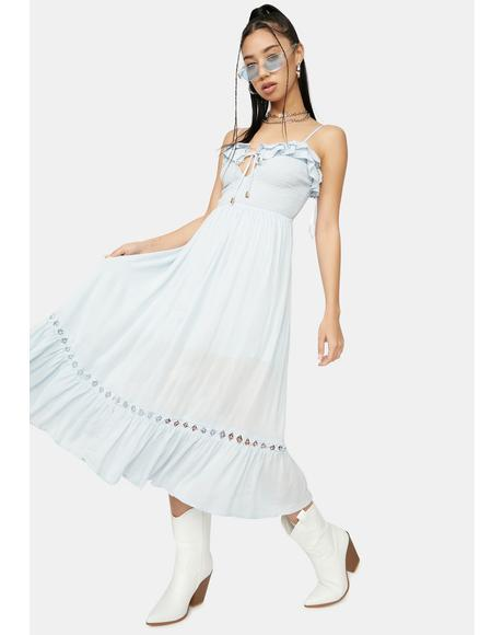Sky Take Me Far Away Midi Dress