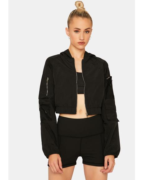 Danger Ahead Crop Jacket