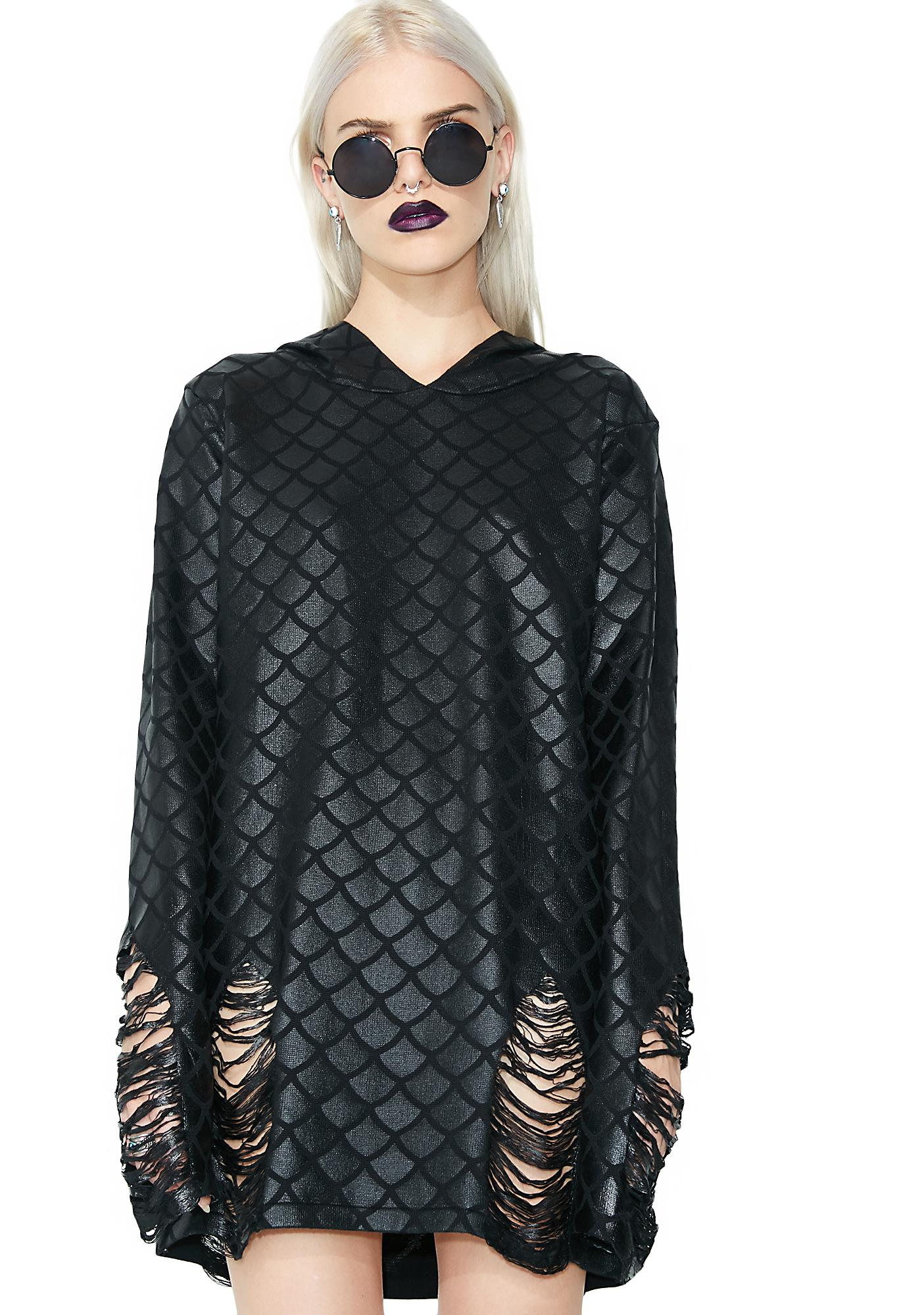 Killstar Odyssey Mer-Foiled Knit Sweater