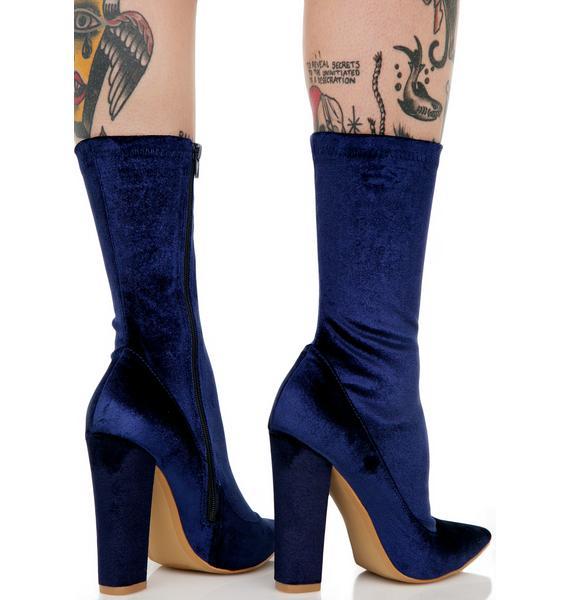 Direction Velvet Boots