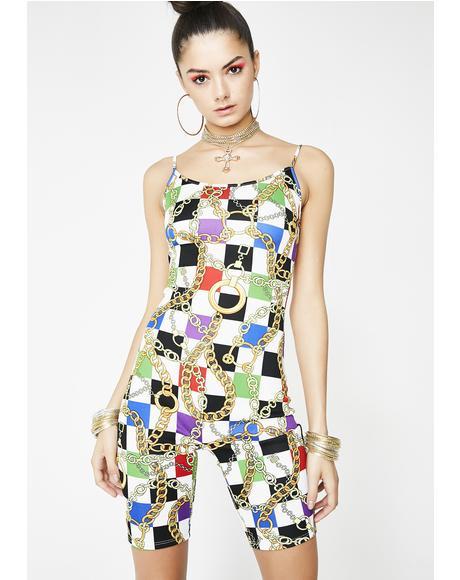 Mad Guap Checkered Bodysuit