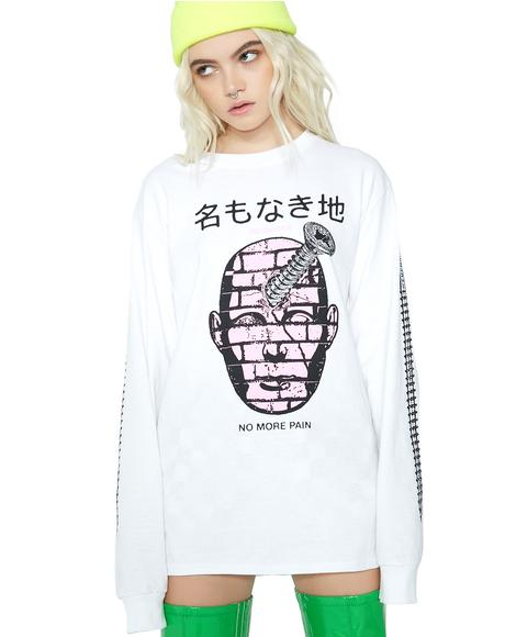 No Pain Graphic Long Sleeve Tee