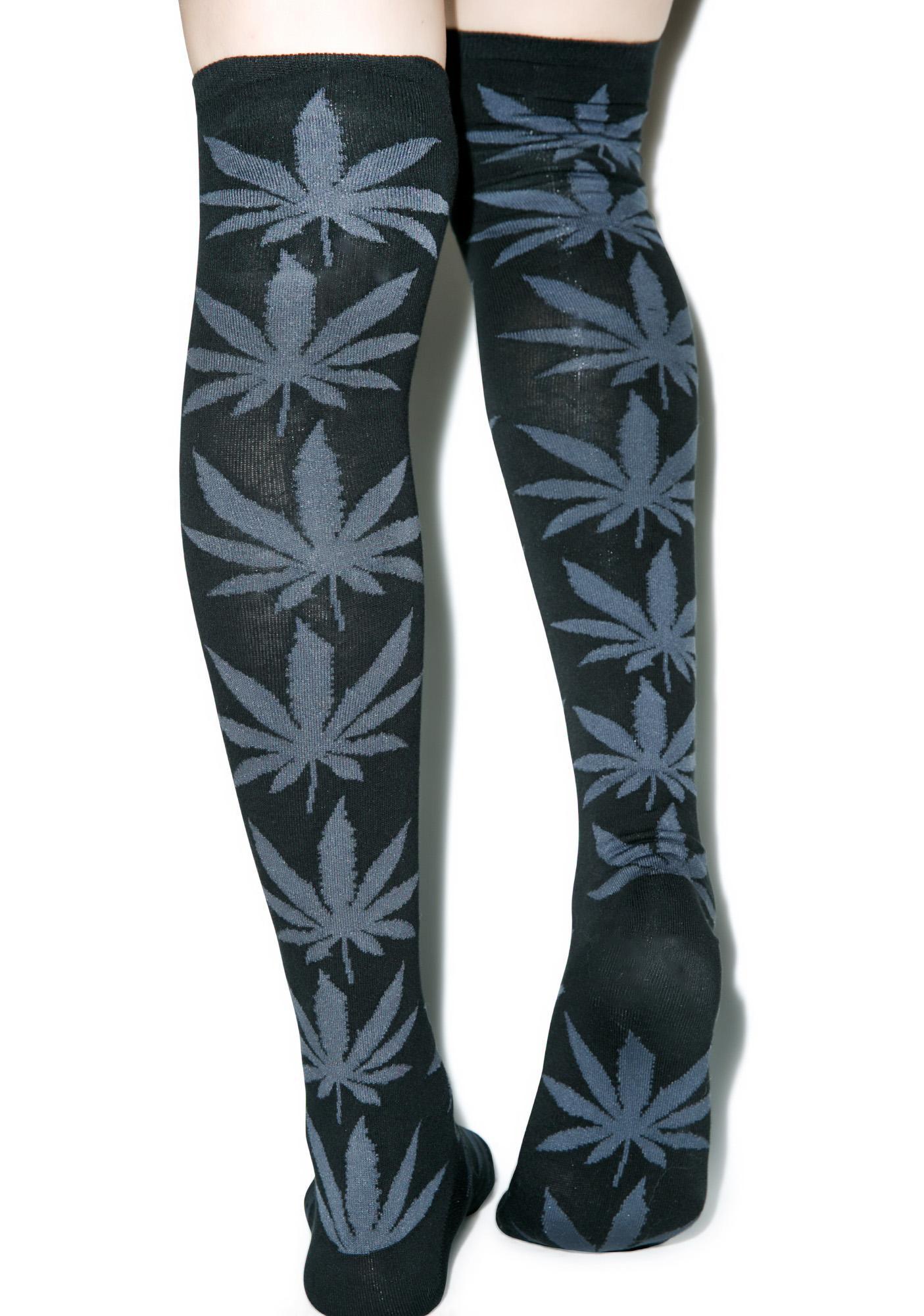 c795bd7993d ... HUF Plantlife Thigh High Socks ...
