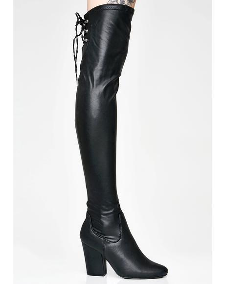 Floor It Thigh High Boots
