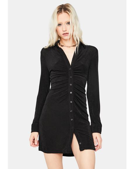 Night Light The Dark Long Sleeve Mini Dress