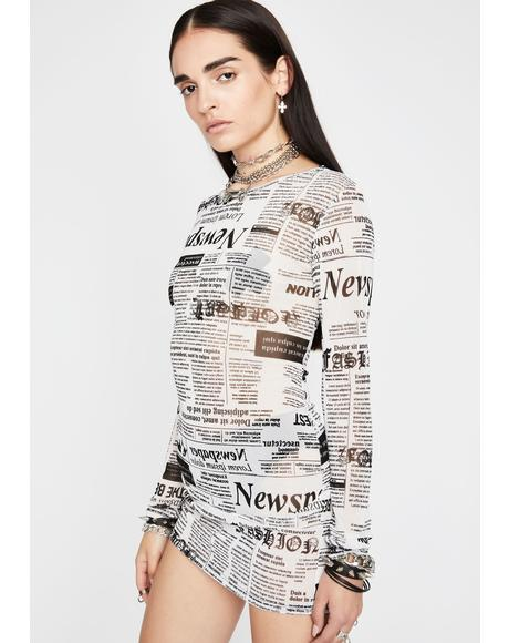 News Flash Mini Dress
