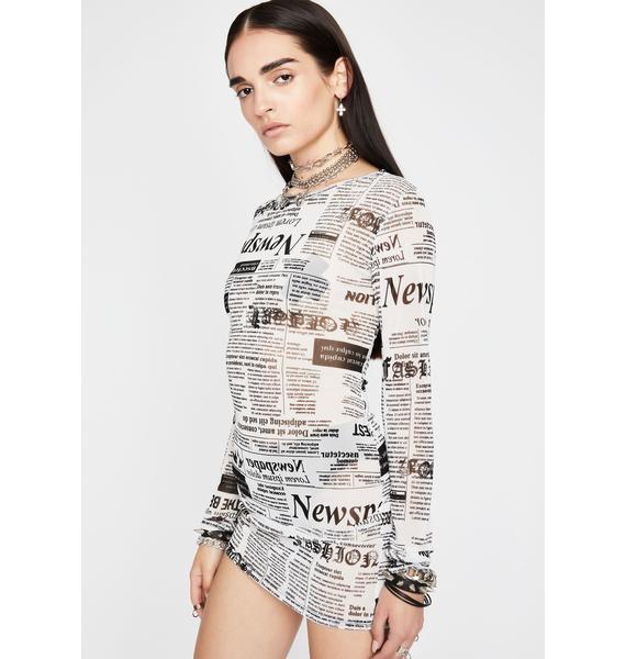 News Flash Mini Dress
