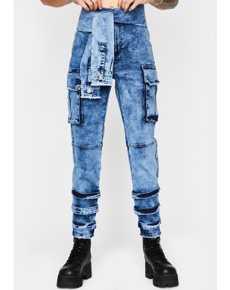 Grunge Mix Cargo Pants