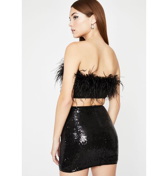 Sin Blast In A Glass Sequin Skirt