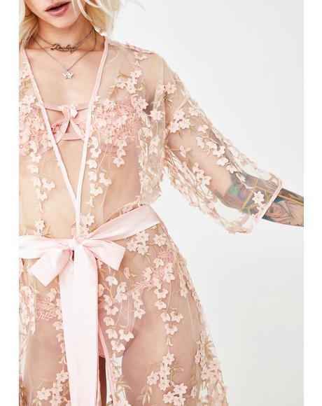 Floral Flirt Mesh Robe