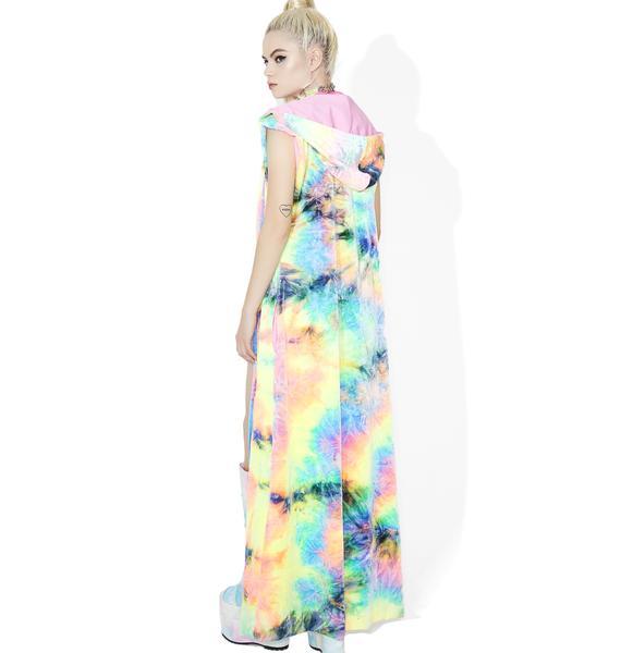 J Valentine Pastel Tie-Dye Velvet Duster